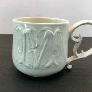 """Pottery Barn """"M"""" Mug"""